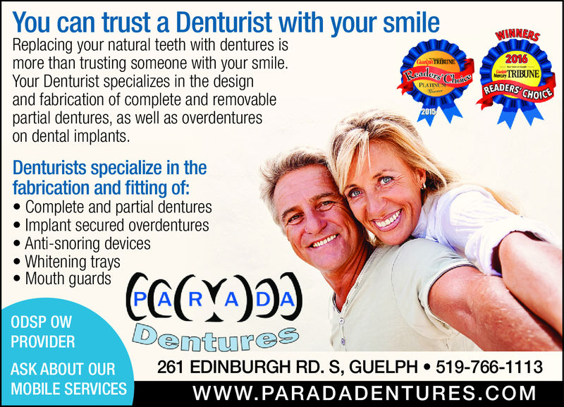 October is Denturist awareness month!